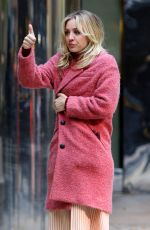 KALEY CUOCO on the Set of The Flight Attendant in New York 11/13/2019
