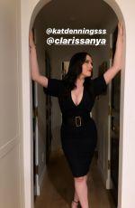 KAT DENNINGS in a Black Dress - Instagram Photos 11/20/2019