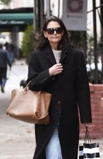 KATIE HOLMES Out Shopping in New York 11/22/2019