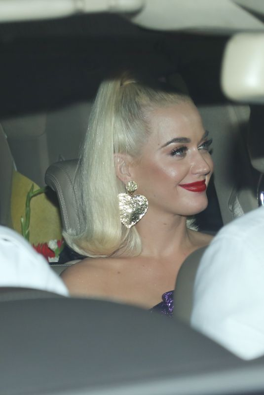 KATY PERRY Arrives at a Welcome Party in Mumbai 11/15/2019