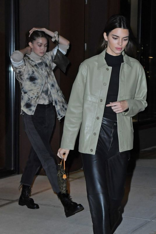KENDALL JENNER and GIGI HADID Out and About in New York 11/19/2019