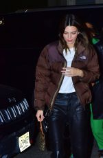 KENDALL JENNER Arrives at Cipriani in New York 11/16/2019