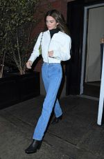KENDALL JENNER in Blue Denim Out in New York 11/20/2019