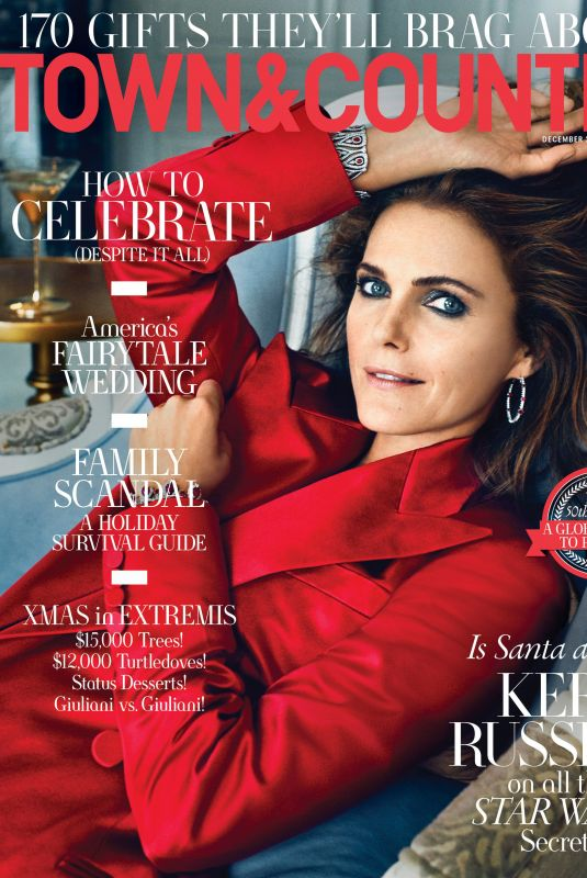 KERI RUSSELL in Town & Country Magazine, December 2019/January 2020