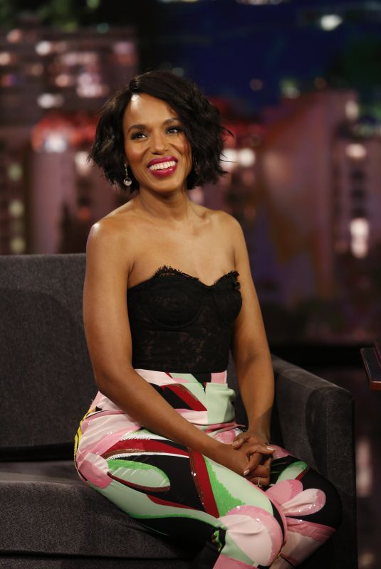 KERRY WASHINGTON at Jimmy Kimmel Live 11/11/2019