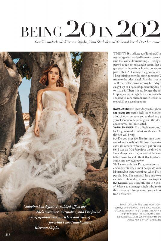 KIERNAN SHIPKA and YARA SHAHIDI in Harper's Bazaar Magazine, December 2019/January 2020