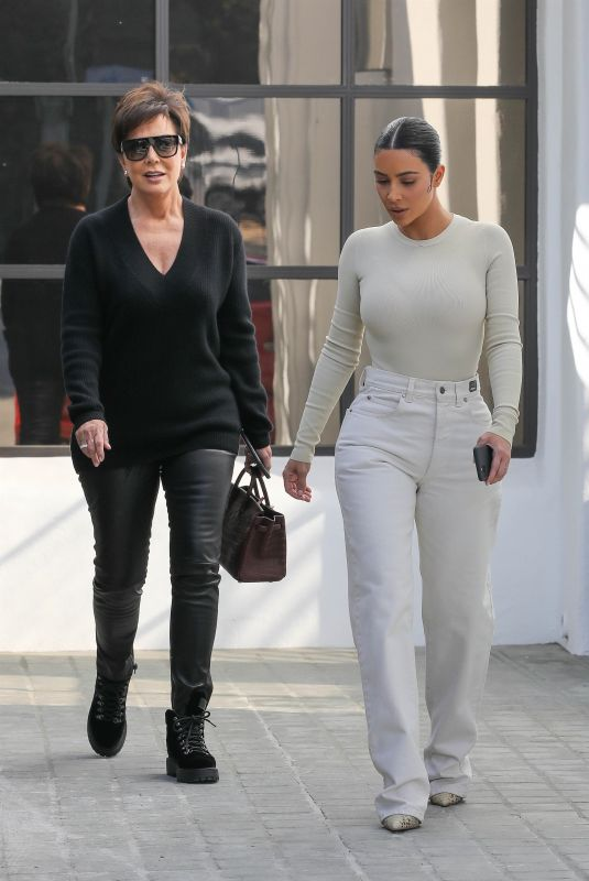 KIM KARDASHIAN and KRIS JENNER Out in Calabasas 11/19/2019
