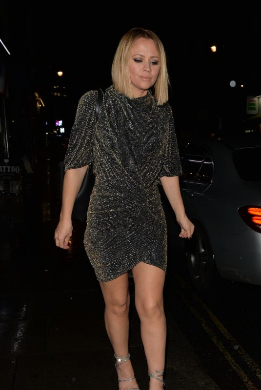 KIMBERLEY WALSH Arrives at Her Birthday Party in London 11/22/2019