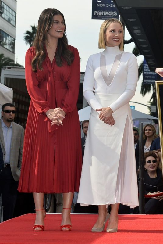 KRISTEN BELL and IDINA MENZEL at Hollywood Walk of Fame Ceremony 11/19/2019