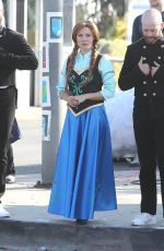 KRISTEN BELL Filming for Late Late Show with James Corden in West Hollywood 11/06/2019