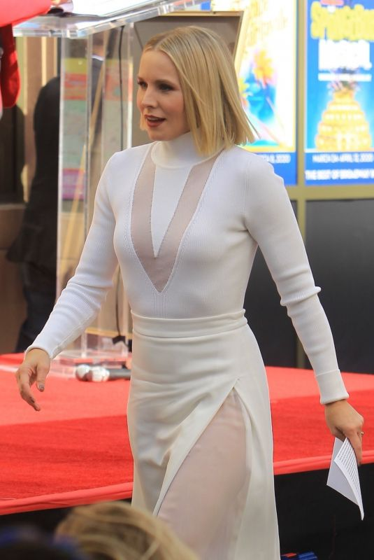 KRISTEN BELL Reciving a Star on Hollywood Walk of Fame 11/19/2019