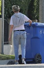 KRISTEN STEWART Takes Out Trash in Los Angeles 11/13/2019