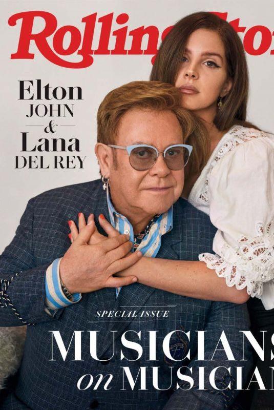 LANA DEL REY and Elton John in Rolling Stone Magazine, November 2019