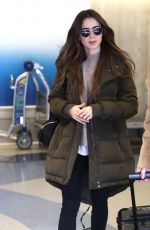 LILY COLLINS at LAX Airport in Los Angeles 11/21/2019