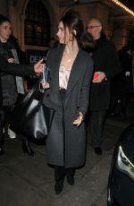 LILY JAMES Leaves Dear Evan Hansen Press Night in London 11/19/2019