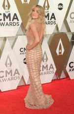 LINDSEY ELL at 2019 CMA Awards in Nashville 11/13/2019