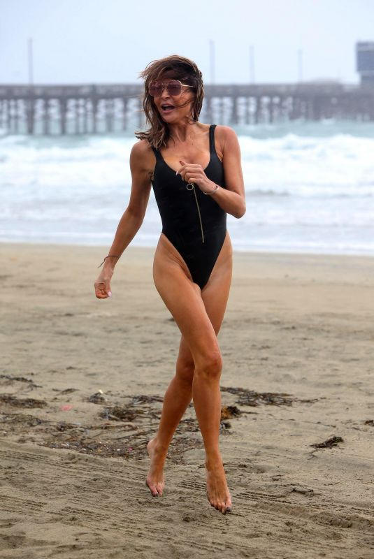 LIZZIE CUNDY in Swimsuit at a Beach in Los Angeles 11/27/2019