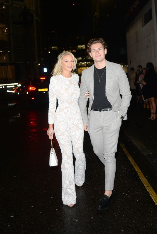 LUCIE DONLAN and Joe Garratt Arrives at Beauty Awards 2019 with Asos City Central in London 11/25/2019