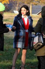 LUCY HALE on the Set of Katy Keene in New York 11/25/2019