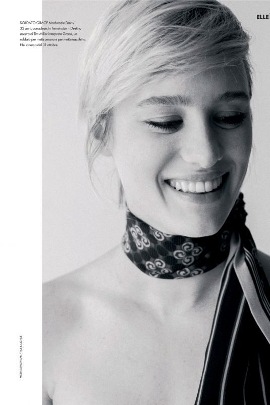 MACKENZIE DAVIS in Elle Magazin, Italy November 2019