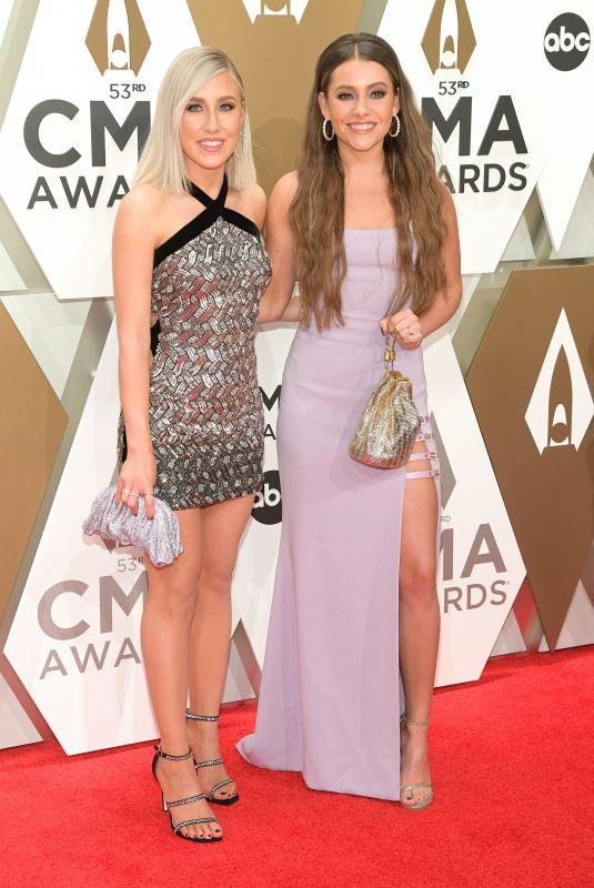 MADDIE & TAE at 2019 CMA Awards in Nashville 11/13/2019
