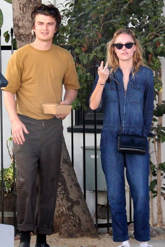 MAIKA MONROE and Joe Keery Out for Lunch in West Hollywood 11/16/2019