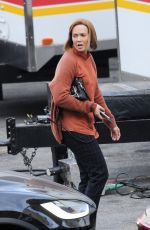 MANDY MOORE on the Set of This is Us in Los Angeles 11/14/2019