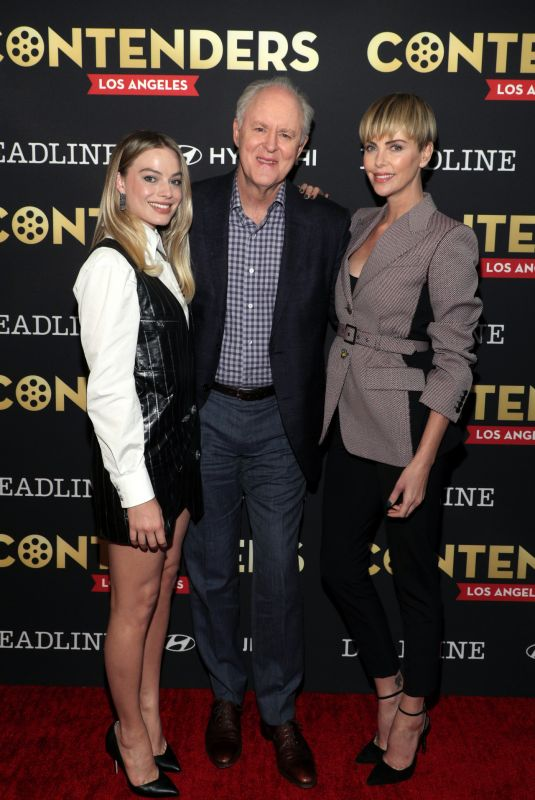 MARGOT ROBBIE and CHARLIZE THERON at Deadline Contenders in Los Angeles 11/02/2019