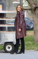 MARISKA HARGITAY on the Set of Law and Erder: Special Victims Unit in New York 11/14/2019