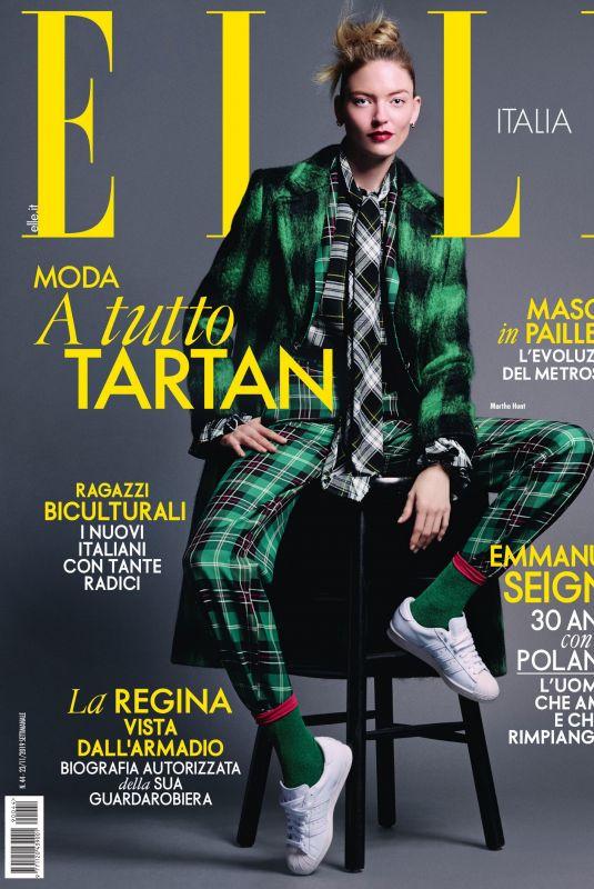MARTHA HUNT in Elle Magazine, Italy November 2019