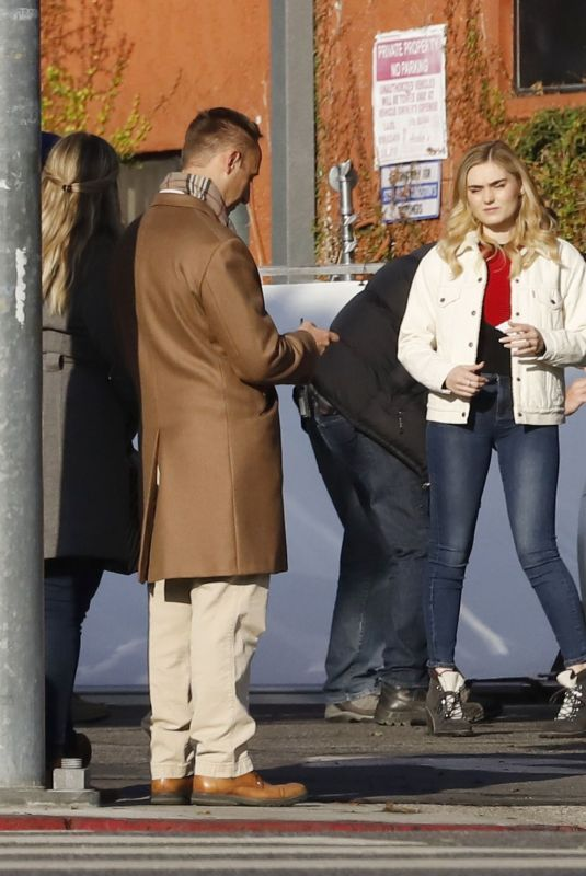 MEG DONNELLY on the Set of First Housewife in Los Angeles 11/25/2019