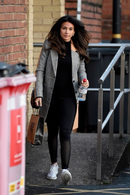 MICHELLE KEEGAN Leaves Hair Salon in Cheshire 10/26/2019