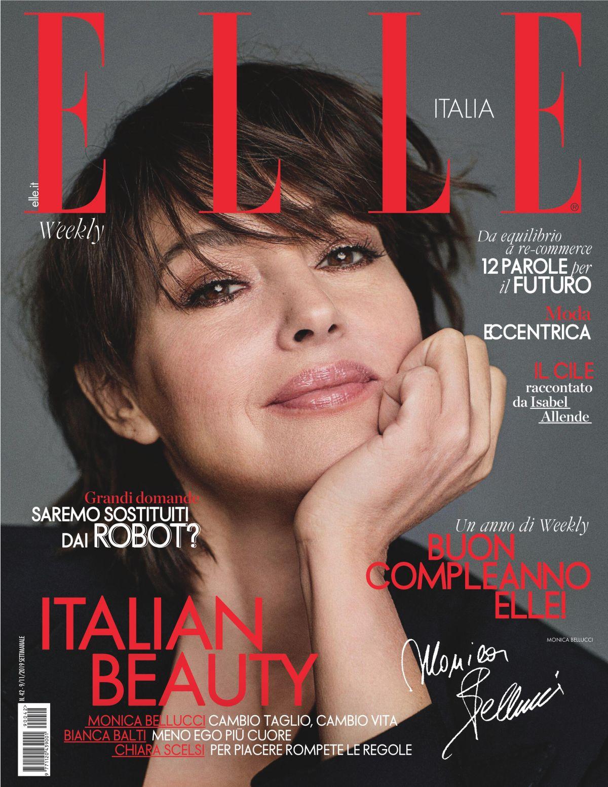 MONICA BELLUCCI in Elle Magazine, Italy November 2019 – HawtCelebs