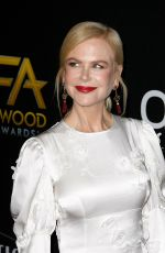 NICOLE KIDMAN at Hollywood Film Awards in Beverly Hills 11/03/2019
