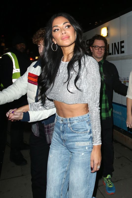 NICOLE SCHERZINGER Leaves X Factor Studios in London 11/16/2019