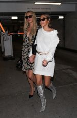 PARIS HILTON and CHANTEL JEFFRIES Leaves Bootsy Bellows in West Hollywood 11/05/2019