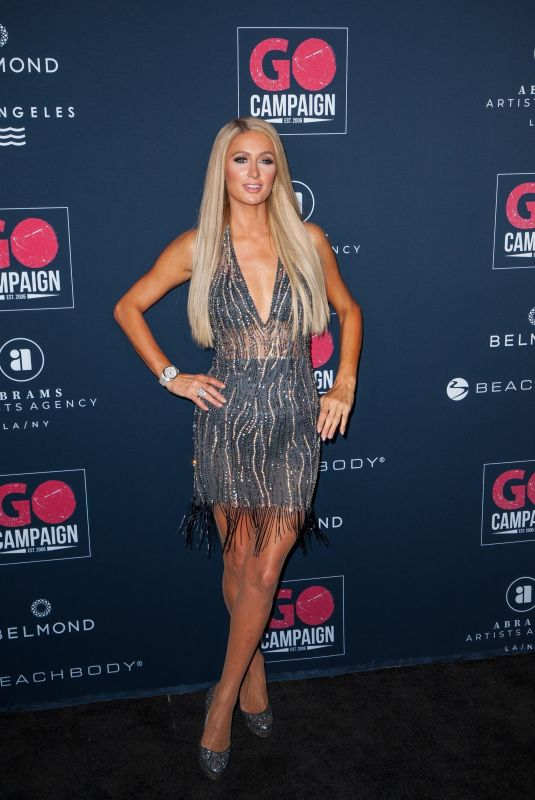 PARIS HILTON at Go Campaign's 13th Annual Gala in Hollywood 11/16/2019