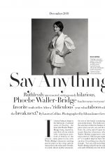 PHOEBE WLLER-BRIDGE in Vogue Magazine, December 2019
