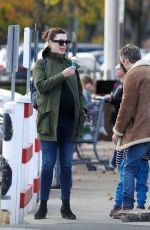 Pregnant ANNE HATHAWAY Out in Fairfield County 11/06/2019