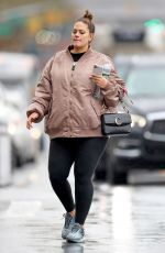 Pregnant ASHLEY GRAHAM and Justin Ervin Out in New York 11/23/2019