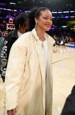 RIHANNA at Utah Jazz vs. LA Lakers Game at Staples Center in Los Angeles 10/25/2019