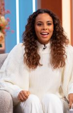ROCHELLE HUMES at Lorraine Show in London 11/14/2019