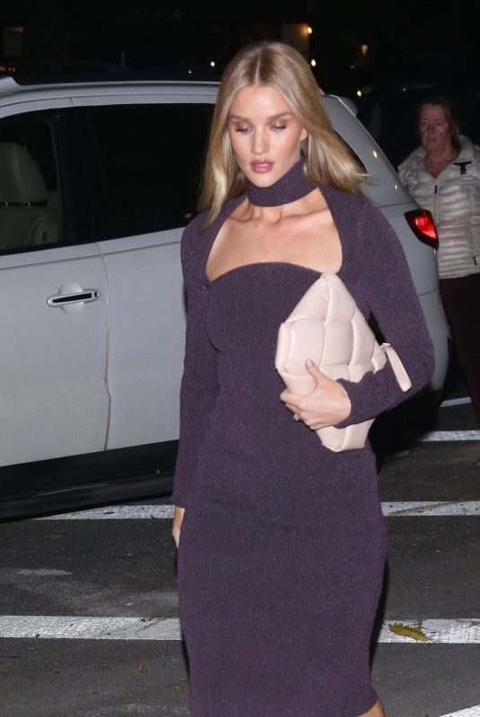 ROSIE HUNTINGTON-WHITELEY Leaves Her Hotel in New York 11/07/2019
