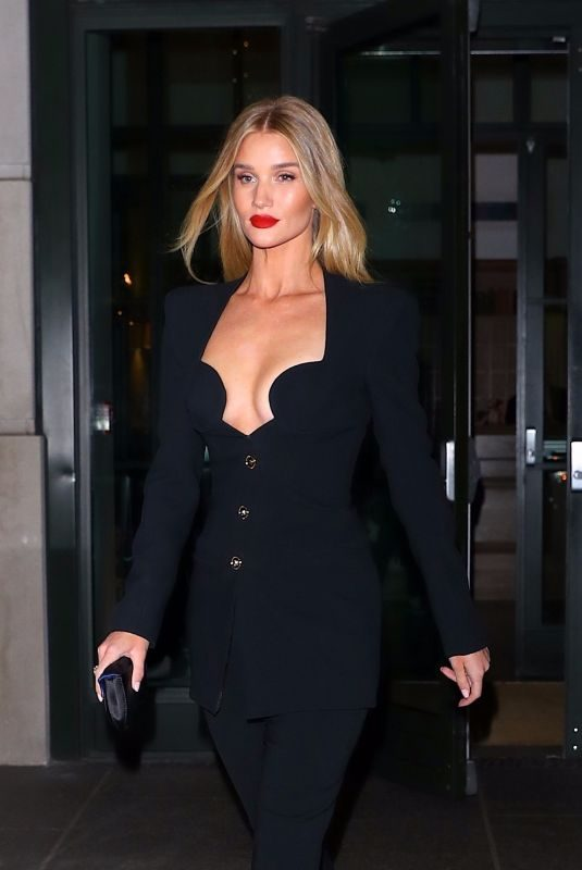 ROSIE HUNTINGTON-WHITELEY Night Out in New York 11/08/2019