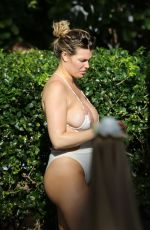 SAMANTHA HOOPES in Swimsuit on the Beach in Miami 11/16/2019