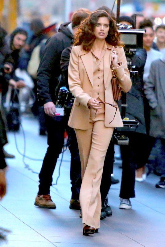 SARA SAMPAIO on the Set of Photoshoot for Michael Kors in New York 11/06/2019