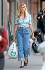 SIENNA MILLER Out Shopping in New York 10/31/2019
