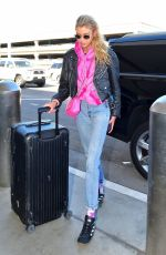 STELLA MAXWELL at Los Angeles International Airport 11/01/2019