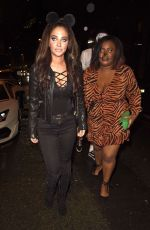 TULISA CONTOSTAVLOS Arrives at Prettylittlething Halloween Party in Manchester 10/31/2019