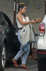 VANESSA HUDGENS in Double Denim Out for Lunch in Los Angeles 11/13/2019
